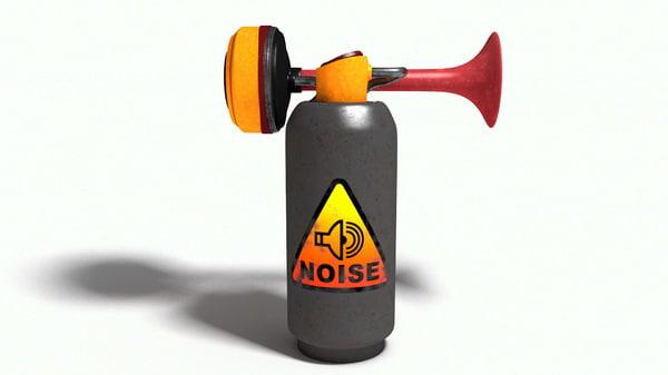 3d compressed air horn model