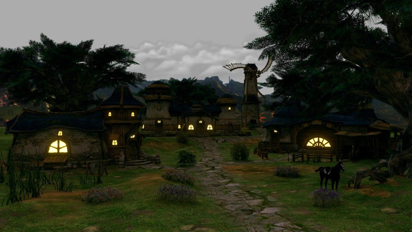 fantasy house pack 3d model