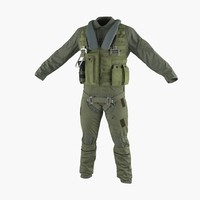 military jet fighter pilot 3d obj