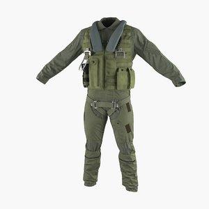 military jet fighter pilot 3d obj
