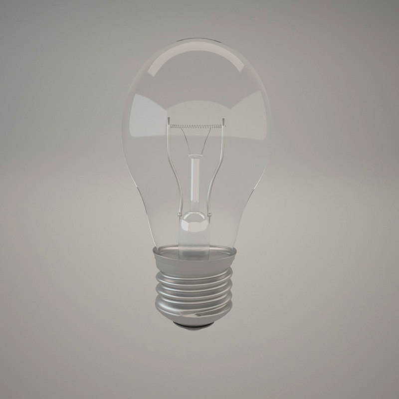 realistic light bulb 3d model
