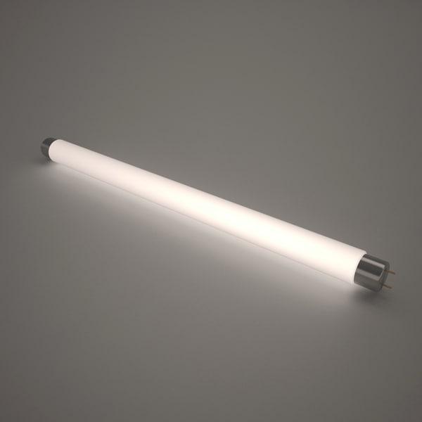 lamp fluorescent illuminated 3d model