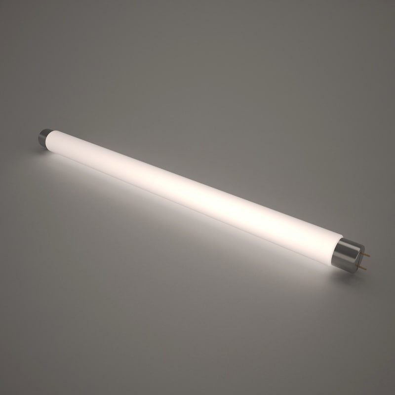 lamp fluorescent illuminated 3d model