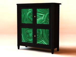 cabinet wood black 3ds