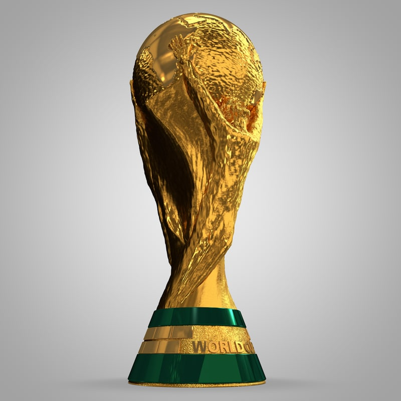 soccer cup trophy football 3d model