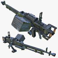 heavy machine gun 3d model