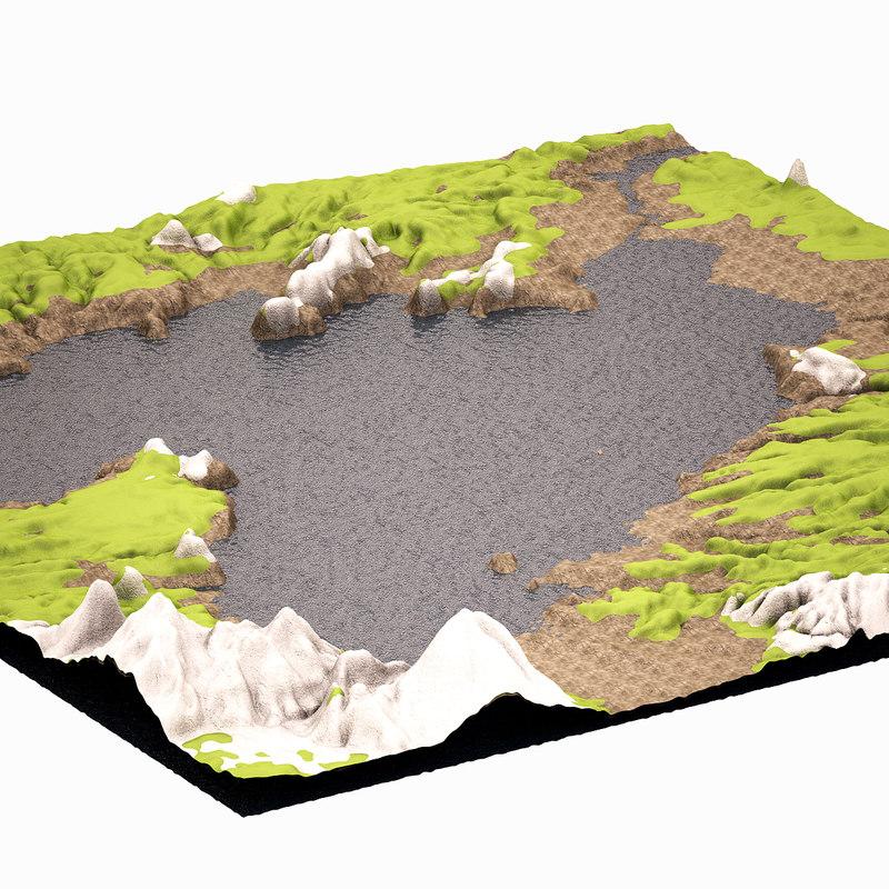 3d model mountain highpoly