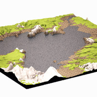 3d model mountain highpoly