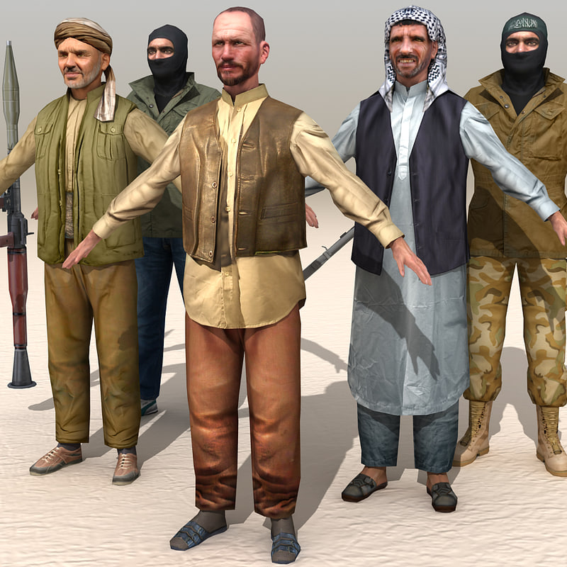 arab afghani male 3d model