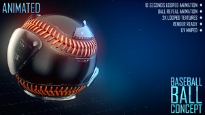 3d model baseball ball concept