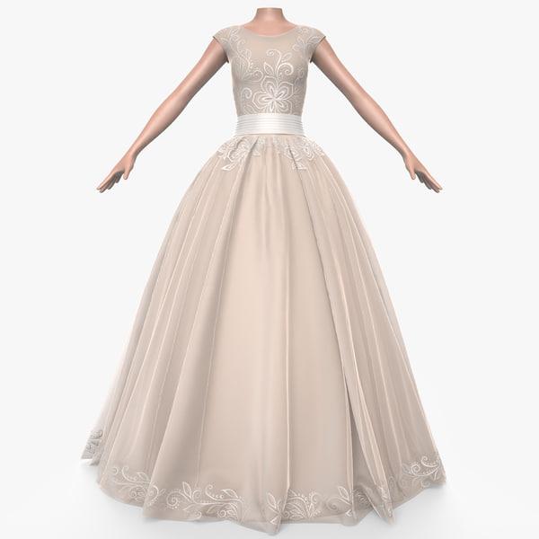 3d model dress female