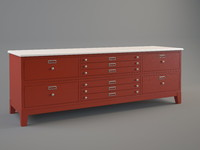 3d max chest drawers ref 0880
