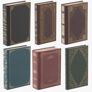classic books standing 3d model