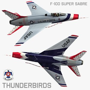 3d model north american thunderbirds