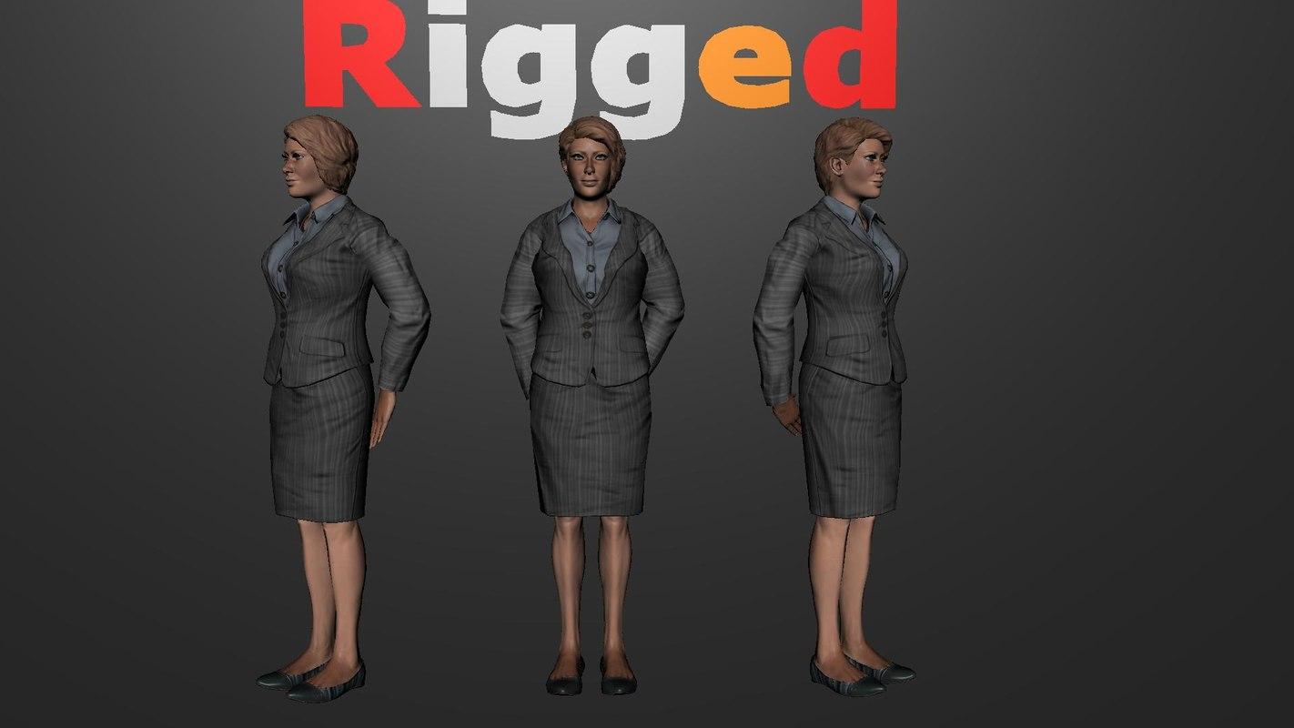 hyper realistic police woman 3d model