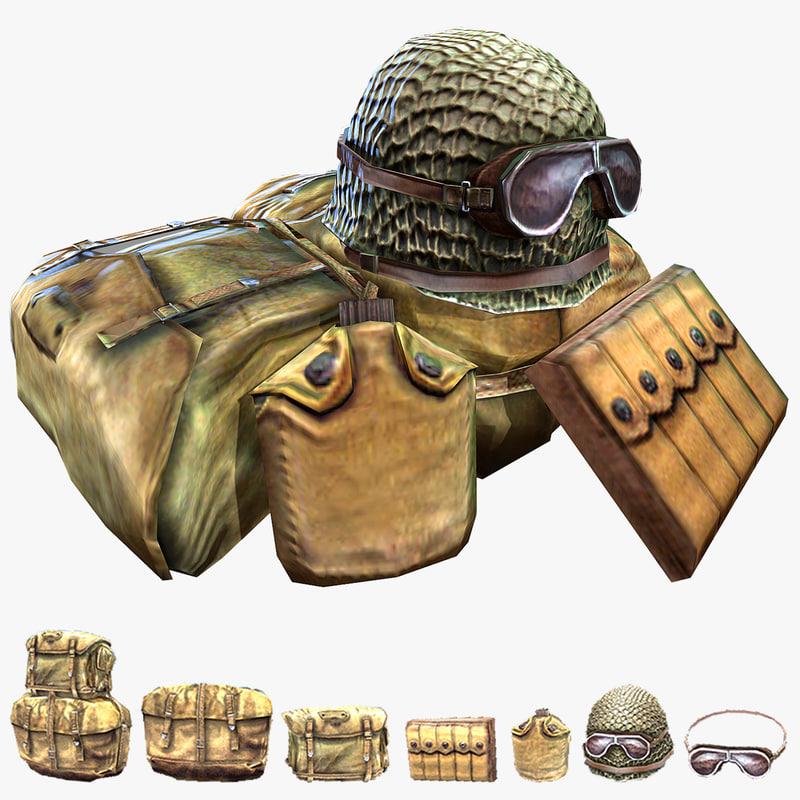 soldier accessories helmet 3d max