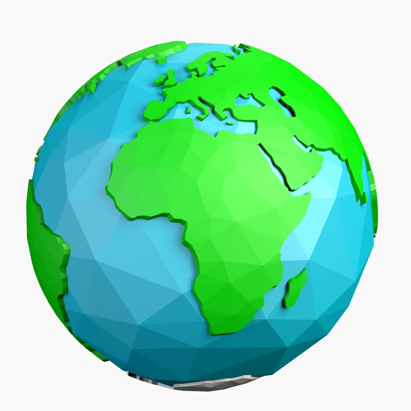 3d cartoon world earth