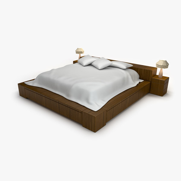 3d model of twin bed