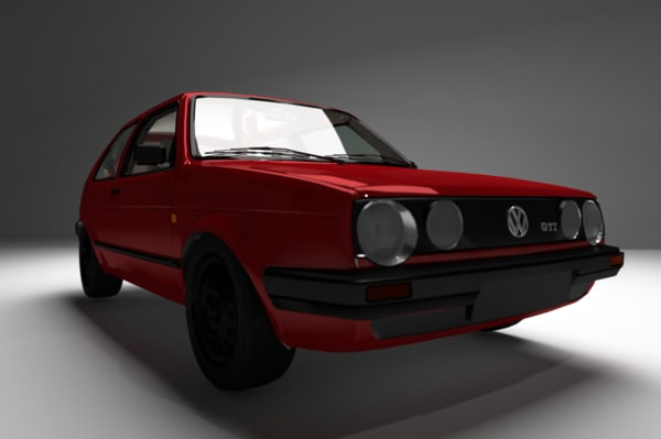1987 volkswagon golf mkii 3d model