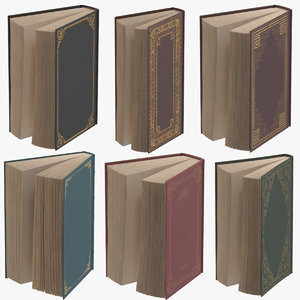 classic books standing open 3d max