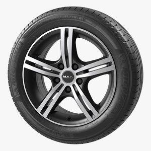 3d model wheel rim mak veloce