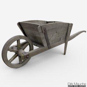 3d model push cart
