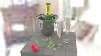 pail rose 3d model