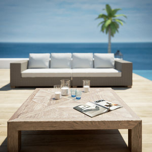 poolside garden furniture 3d model