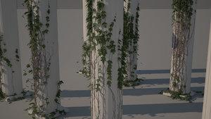 columns ivy 3d max