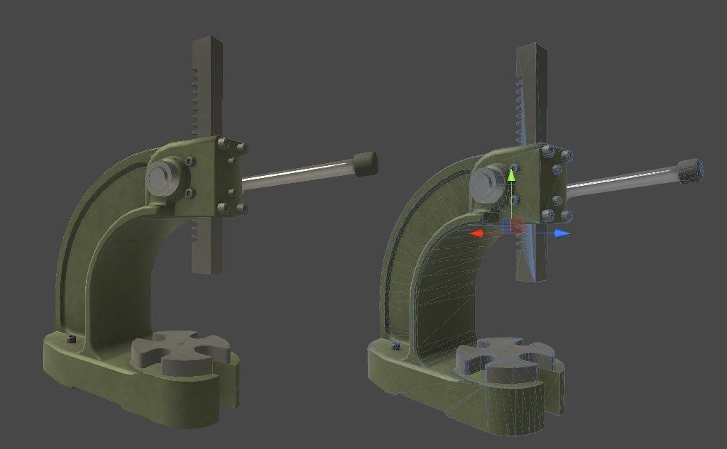 arbor press 3d model