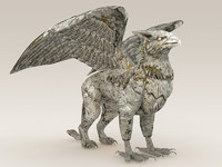3d griffin sculpture model