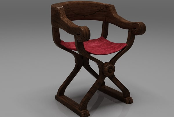 3d medieval throne model
