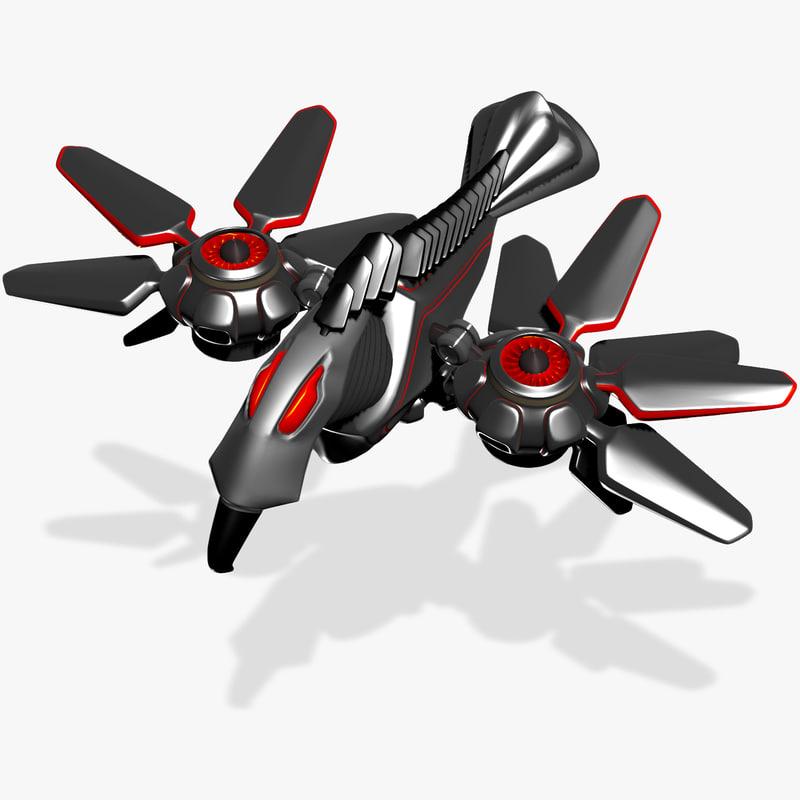 3d robot bird
