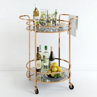 3d max bar cart pottery barn