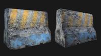 3d model concrete divider