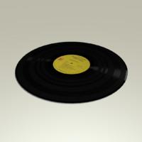 free vinyl record 3d model