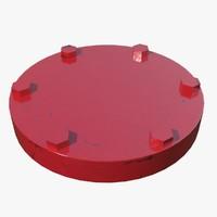 3d model pipe cap