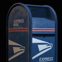 usa mailbox obj