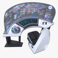 3d model command panel