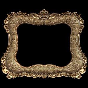 mirror frame stl cnc 3ds