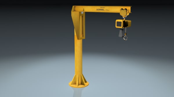 lifting hoist crane 3d model