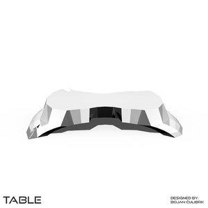 obj triangular table set
