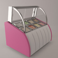 3d ice cream display