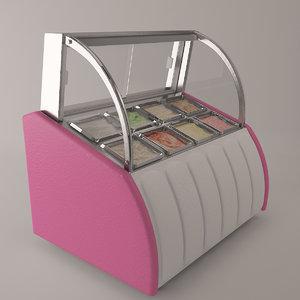 3d ice cream display