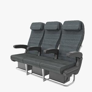 3d fbx plane wider seat