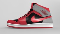 3d model of realistic air jordan 1