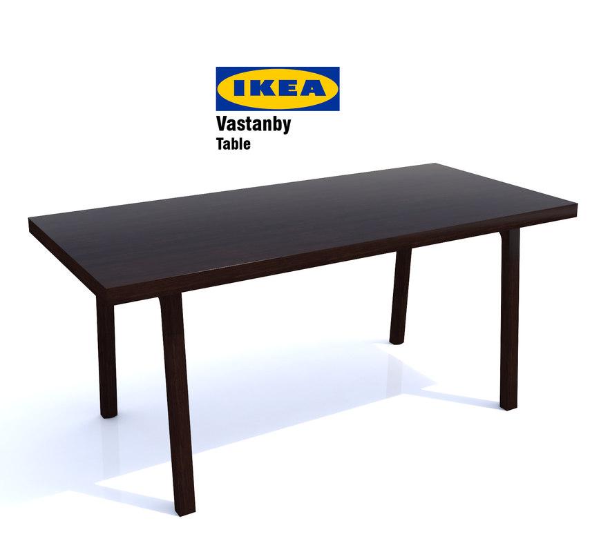 ikea vastanby table 3d model