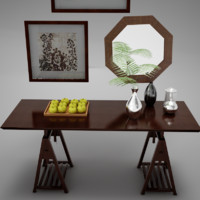 3d model table mirror