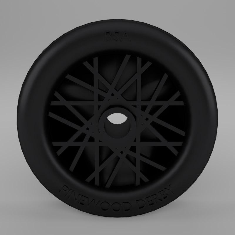 3d wheel pinewood derby