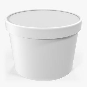 3d model ice cream gallon generic